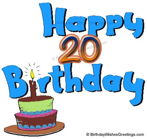 Happy 20th Birthday Wishes Happy 20th Birthday Quotes Quotesgram