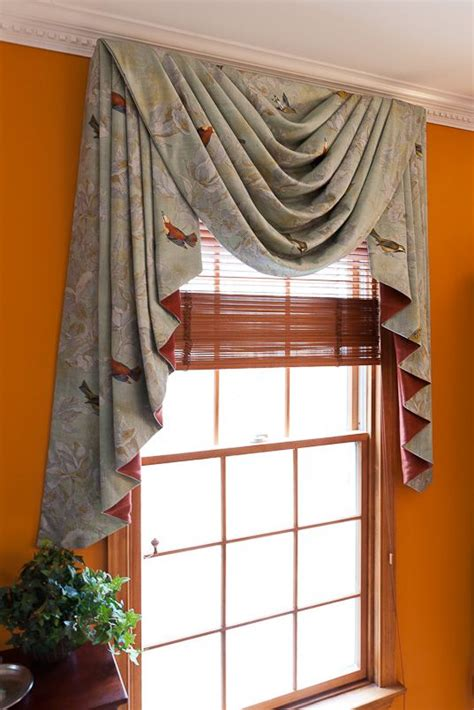 jabot curtains window treatments swag stacked jabots with contrasting lining drapes