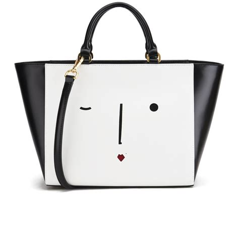 Lulu Guinness Reversible Tote White by Lulu Guinness S Cesca New Tote Bag Black