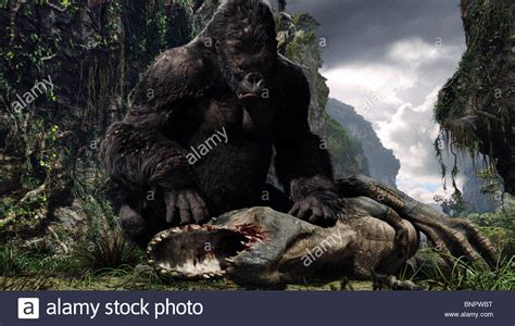film dinosaurus vs king kong king kong dinosaur king kong 2005 stock photo 30621020
