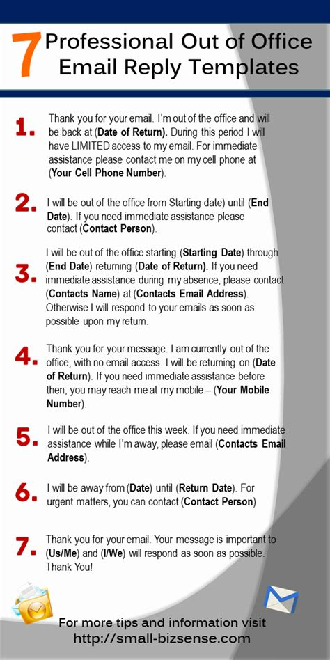 out of office template email here are 7 professional out of office email reply