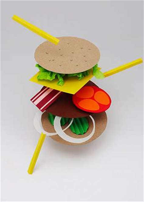 How To Make A Paper Hamburger - papercraft hamburgers extraordinary works from daniel