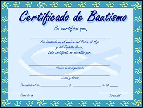 certificado de bautismo template certificados de bautismo