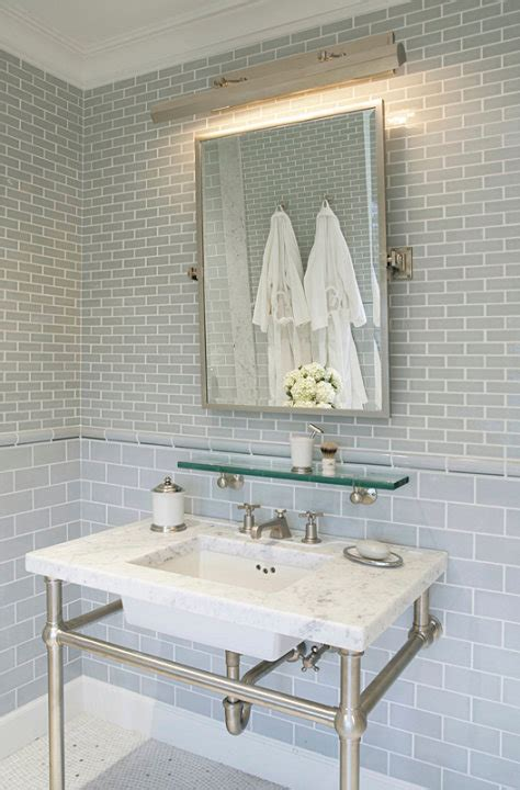 bathroom picture light gray glass subway tile backsplash design ideas
