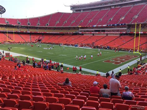 section 132 f arrowhead stadium section 132 rateyourseats com
