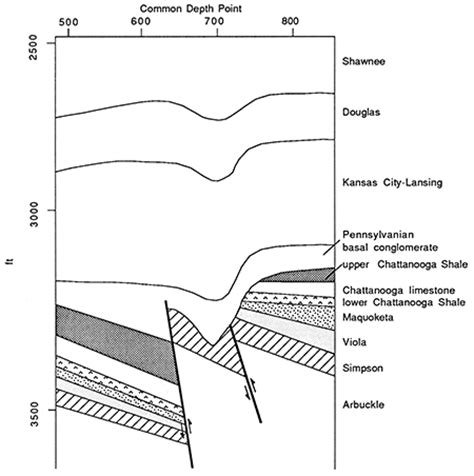 cross section geology definition kgs bulletin 226 roehl and others