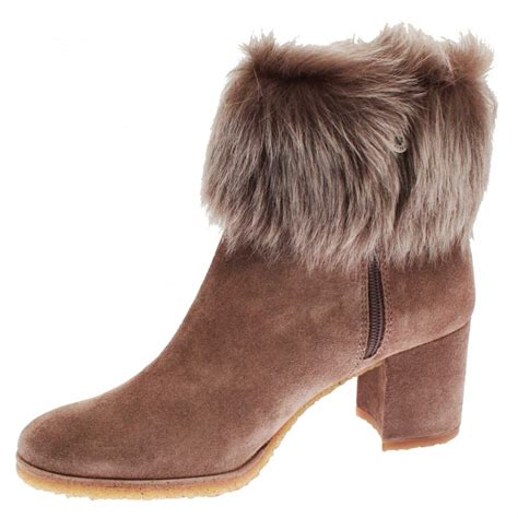 high heel fur boots pedro miralles s high heel fur top ankle boots at