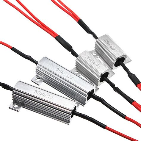 led resistors for turn signals 6 8ω led indicator blinker turn signals light load resistor car fix error us 3 99