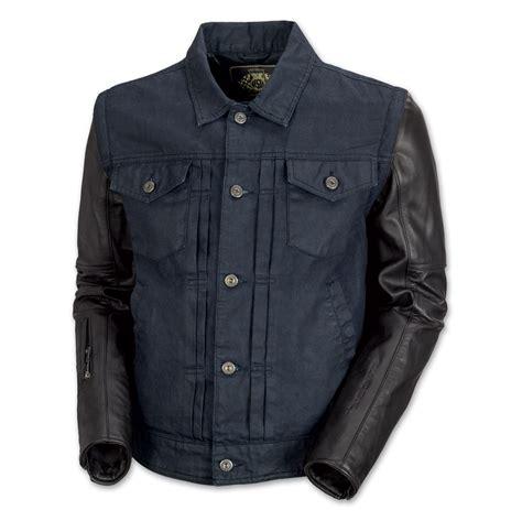 Jaket Bloods Denim roland sands design honcho s denim leather jacket