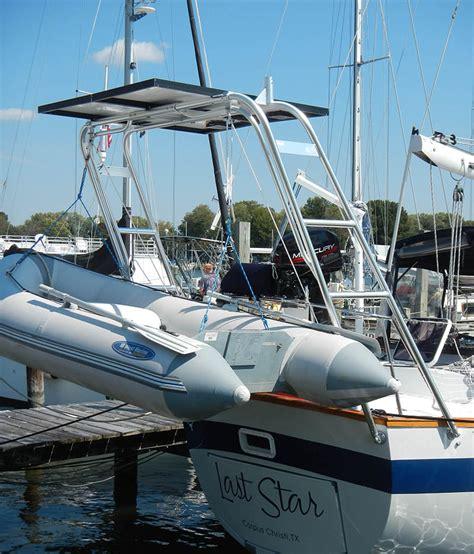 catamaran davit design sailboat arch tower in a box atlantic towers