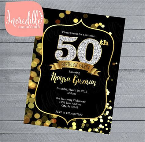 50th birthday invite template free invitation template premium and free documents