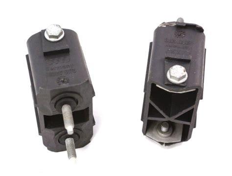 Gats Lx 605 Brown Genuine Leather rear bumper mount brackets hardware 98 01 audi a6 4b0