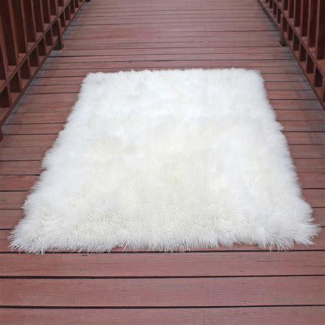 ziegenfell teppich mongolisches ziegenfell teppich wei 223 kaufen und sparen