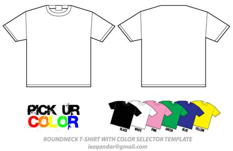 Round Neck T Shirt Template Vector Illustrator Pack Download Free Vector Art Free Vectors T Shirt Template Ai