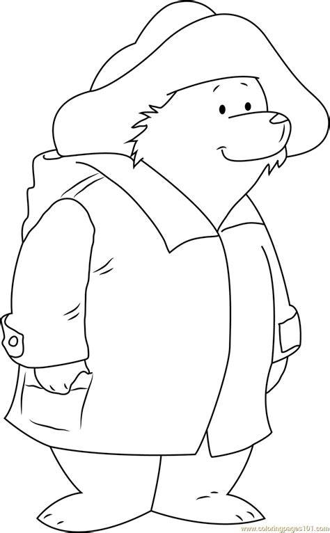 paddington bear coloring page free paddington bear