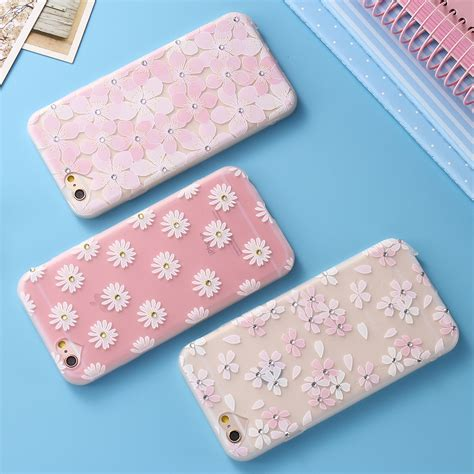 For Iphone 6 6s Plus Luxury Flower Bling Fashion So T0310 aliexpress buy floveme luxury silicone for iphone 6 6s for iphone 6 plus 6s plus