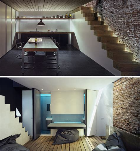 Brightest Lights For Garage by Light Industrial Bright Modern Home In A Boxy Gray Garage