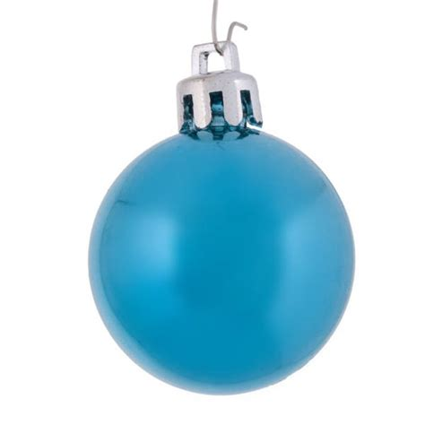light baubles light turquoise baubles shiny shatterproof pack of 18 x