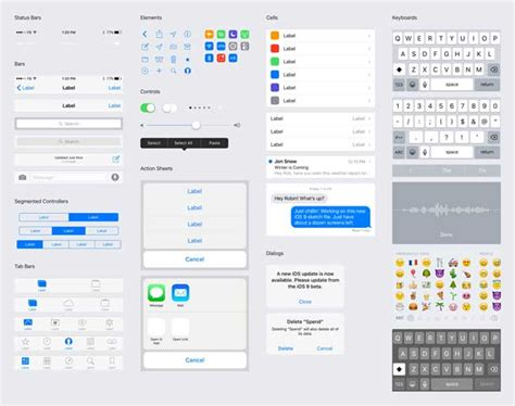 Free Ios 9 Gui Psd For Iphone By Facebook Free Download