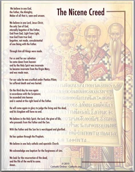 printable version nicene creed prayer products and catholic on pinterest