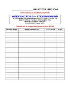Raffle Sign Up Sheet Template by 1000 Images About Auction Forms On Silent