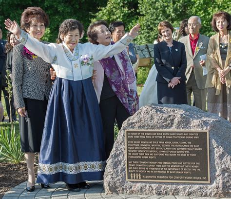 women of comfort memorial to comfort women unveiled near washington d c