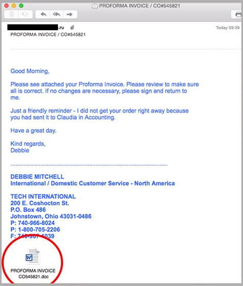 sle invoice mail breaking zero day russian invoice scam targets businesses