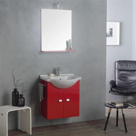 mobile bagno con specchio e luce mobile lavabo con specchio e luce 58 cm sospeso bagno piccolo