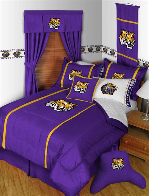 lsu comforter set queen ncaa lsu tigers queen comforter pillow shams mvp bed set