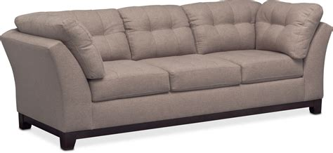sebring coffeebean sofa loveseat sebring sofa and loveseat set smoke american signature