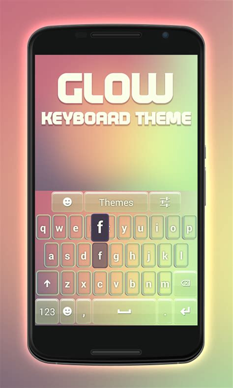 keyboard themes for myphone glow keyboard theme free android app android freeware