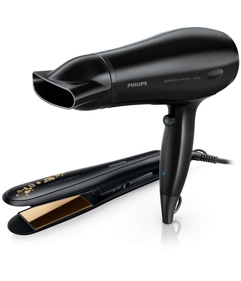 Hair Dryer And Straightener Snapdeal philips hp8646 hair straightener hair dryer black buy