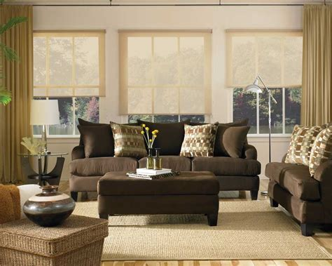 Living Room With Brown Sofa | brown couch what color walls knowledgebase