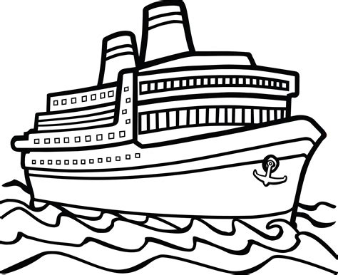big boat outline 100 boat clip art black and white image download