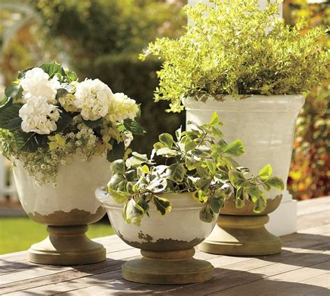 Pottery Barn Planters by Tuscan Planters Mediterranean Outdoor Pots And
