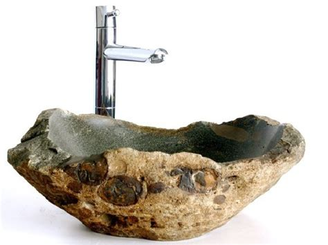 rock sinks bathroom natural stone sinks complementing fresh bathroom interiors