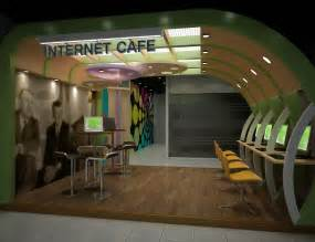 interior design for cyber cafe internet cafe portfolio work liking the curved wall
