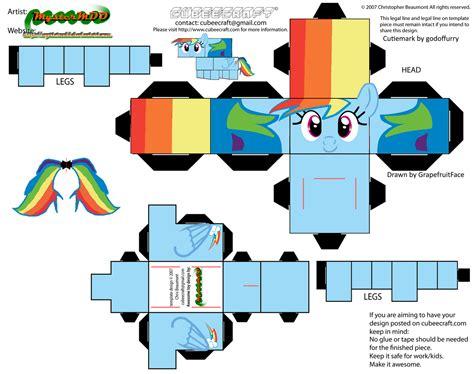 Rainbow Dash Papercraft - my pony papercraft rainbow dash www pixshark