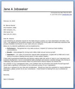 Cover Letter Sles For Cv by Best Cover Letter For Sales Manager
