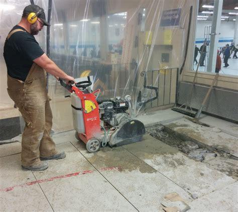 Plumbing Trench by Concrete Floors In Kamloops Hardaker Concrete