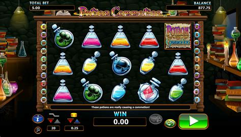 play potion commotion slots  playmillion games