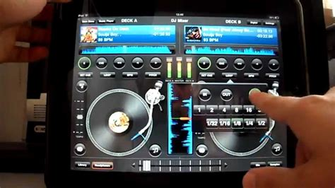 ipad mixing desk app ipad app dj mixer pro youtube