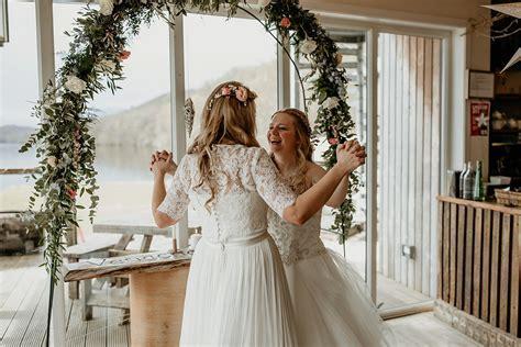 A Beautiful   Romantic Lesbian Wedding in Scotland   Love