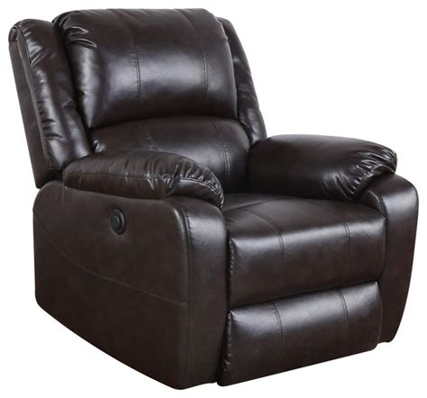 Plush Leather by Plush Bonded Leather Power Electric Recliner Chair