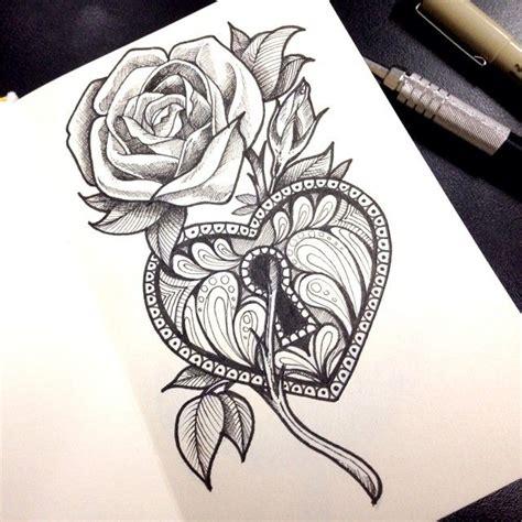 tattoo sketch pen rose tattoo google search pinteres