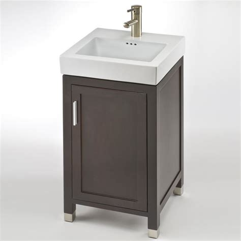 18 Bathroom Vanity And Sink with Bathroom Vanities Contempo 18 One Door Vanity For New City Sink In Cherry By Empire