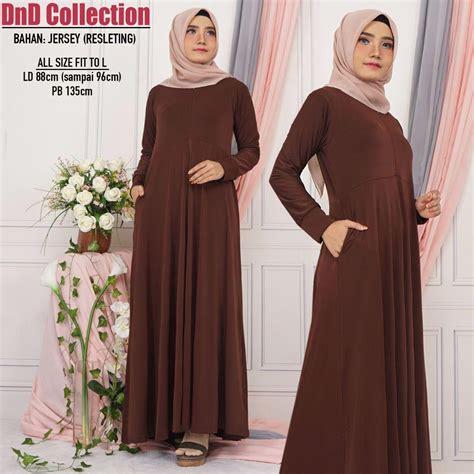 model baju gamis bahan satin ragam muslim