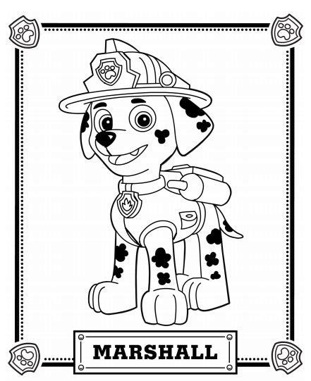 free coloring pages of paw patrol luke stars paw patrol coloring pages marshall coloringstar