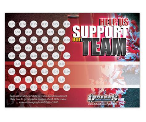 Give Cheer Gift Card - 90 profit cheerleading fundraiser scratch cards
