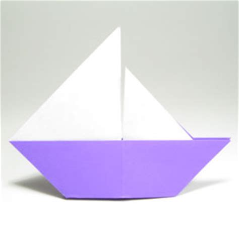 Origami Fishing Boat - how to make a traditional origami sailboat page 9
